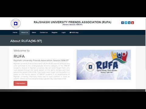 University Friends Association Website Using Php And Mysql.