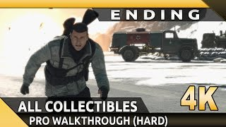 Sniper Elite 4 (PC) - 4K - Mission 8 Allagra Fortress (Ending)- All Collectibles/Optional Objectives
