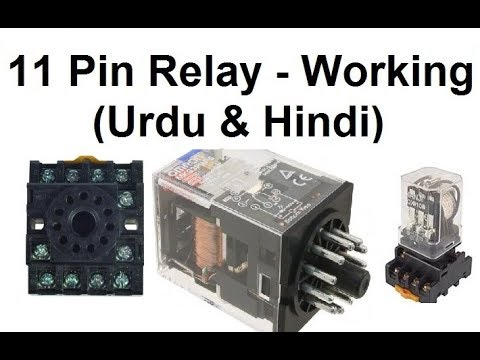 11 pin relay connections working wiring and base wiring urdu rh youtube com Relay Switch Wiring Diagram 5 Pin Relay Wiring Diagram