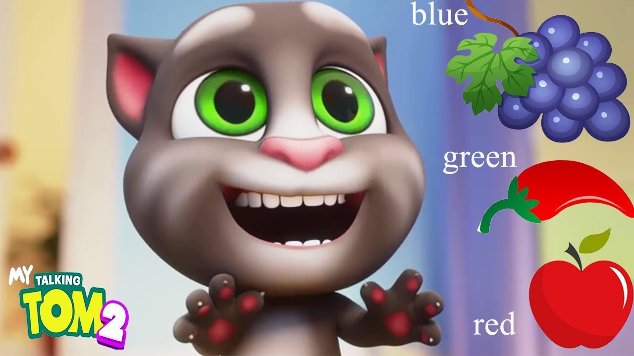 My Talking Tom 2 - Kids Learn Colors, How To Draw and Color Fruits With Tom  Cat   Educational Game