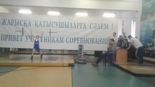 Толчок Тяжелая Атлетика Соревнования Хромтау 43кг