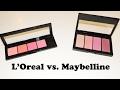 Maybelline Master Blush Kit | L'Oreal Infallible Paints Blush Palette | Review