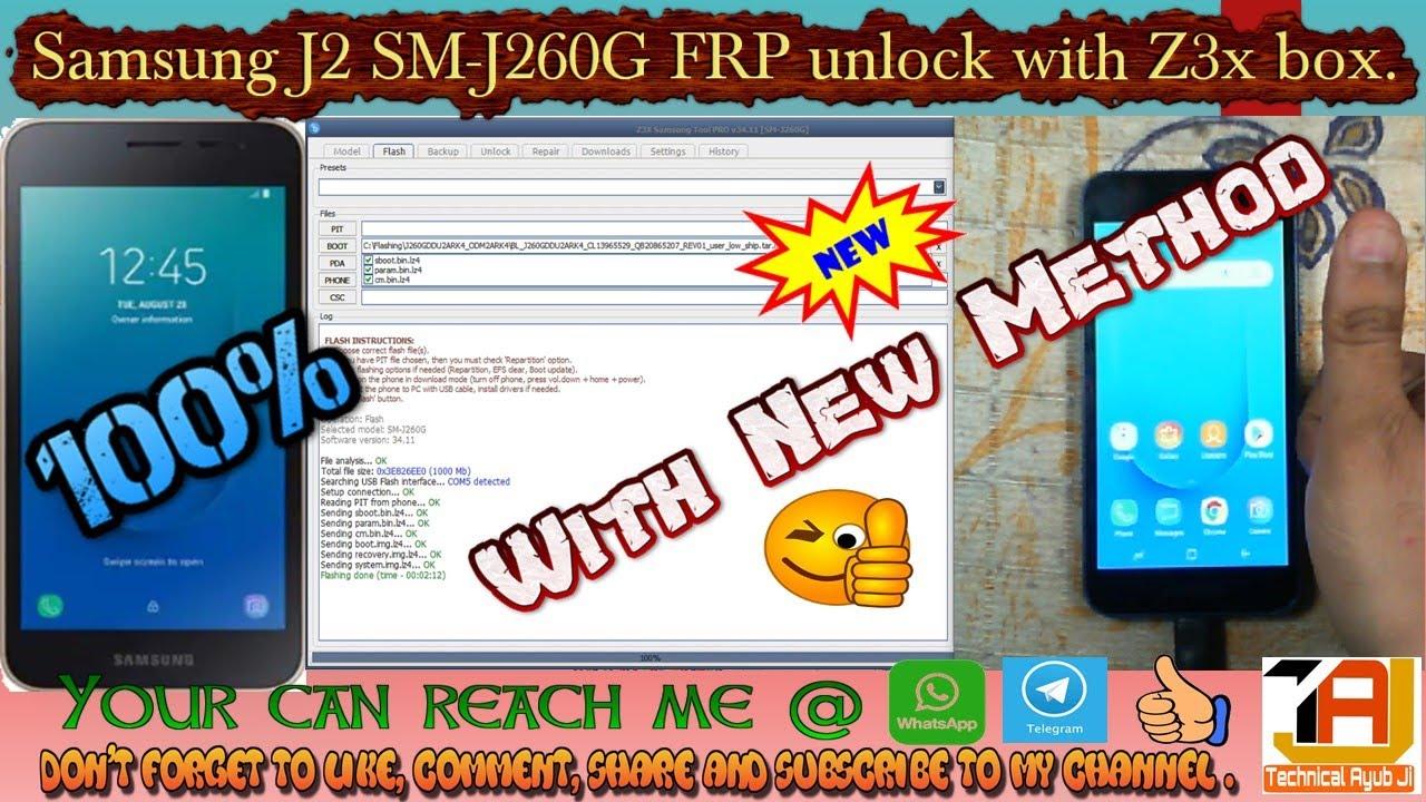 SAMSUNG GALAXY J2 | SM-J260G | FRP NEW METHOD | Z3X BOX | DON'T EVER MISS  THIS CHANCE