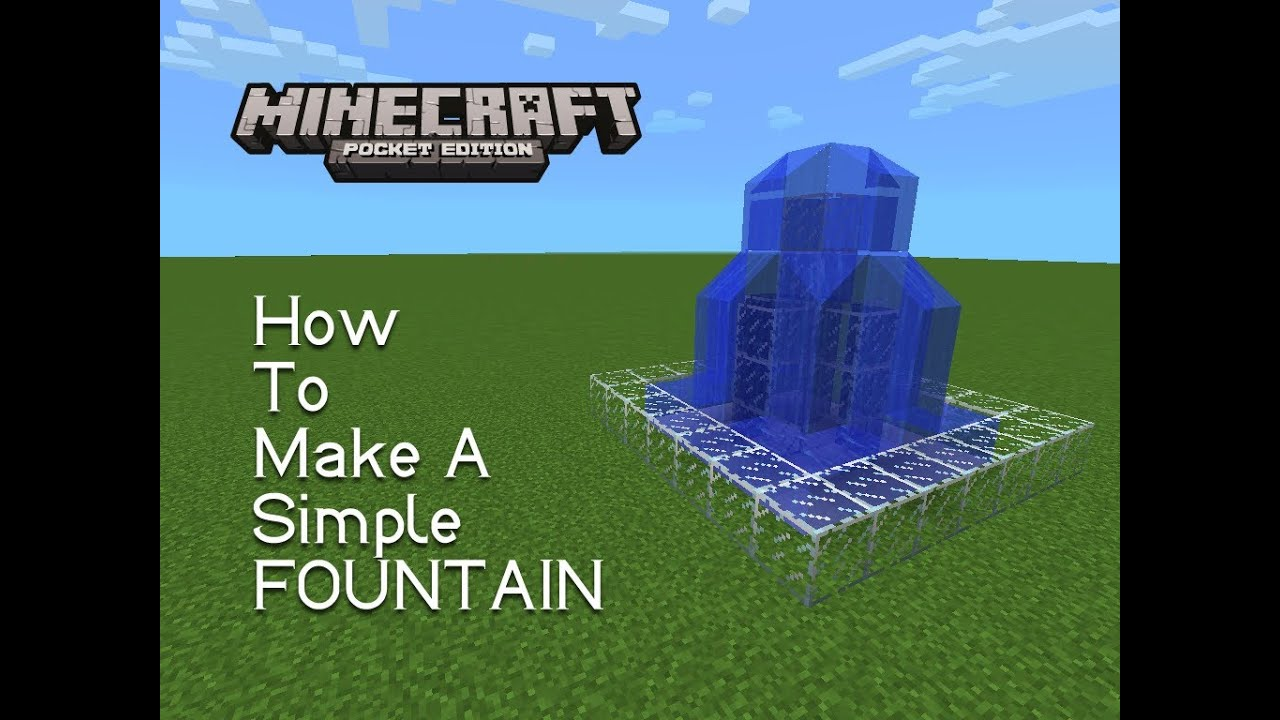 How To Make A Simple Indoor Fountain In Minecraft Pocket Edition!