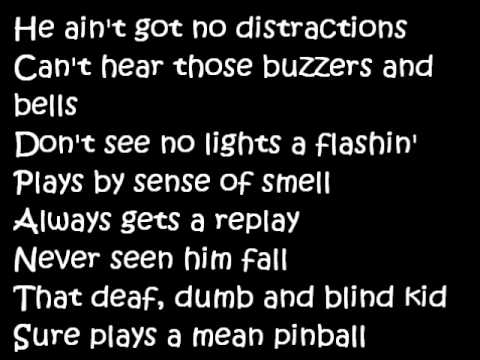 The Who  Pinball Wizard Lyrics