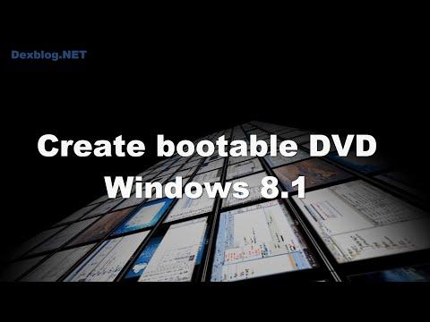 Create Bootable DVD Windows 8.1