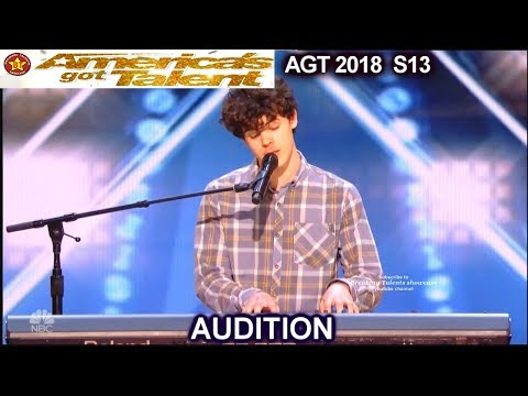 """Joseph O'Brien 20 yo Never Kissed or Never Dated sings """"Hello""""America's Got Talent 2018 Audition AGT"""