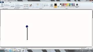 Видеоурок  Рисование домика Paint