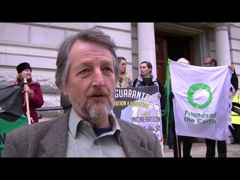 Neil Pitcairn from UK Without Incineration Network speaks outside HM Treasury 18/12/2013