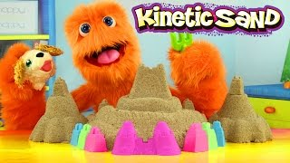 Kinetic Sand How to Make & DIY - Sand Castle with Colors Ice Cream ASMR & Chubby Puppies for Kids