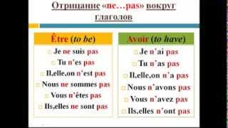 Французский язык. Уроки французского #13: Глаголы être и avoir. Отрицание