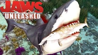 Jaws Unleashed - Grande Tubarão Branco, Tubarão Perigoso, Capturado!   (#1) (PT-BR) Jogos De Tubarão
