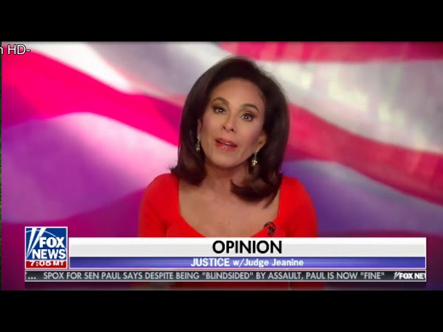 JUSTICE W JUDGE JEANINE PIRRO JUDGE TALKS ABOUT HER CANCER AND EXPOSES MORE CLINTON URANIUM ONE SCAN