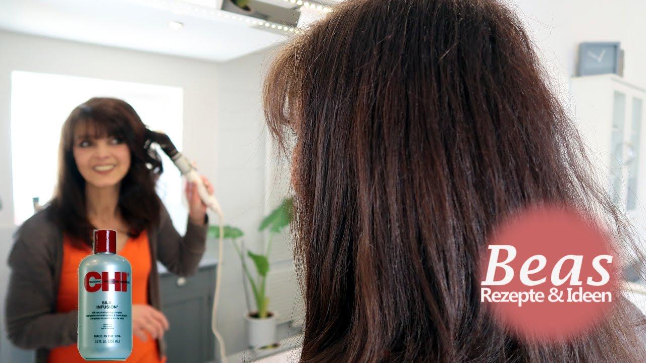 Haare glatten pflege
