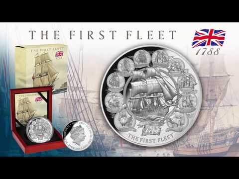 2018 Niue 2 oz Silver Proof 230th Anniversary First Fleet
