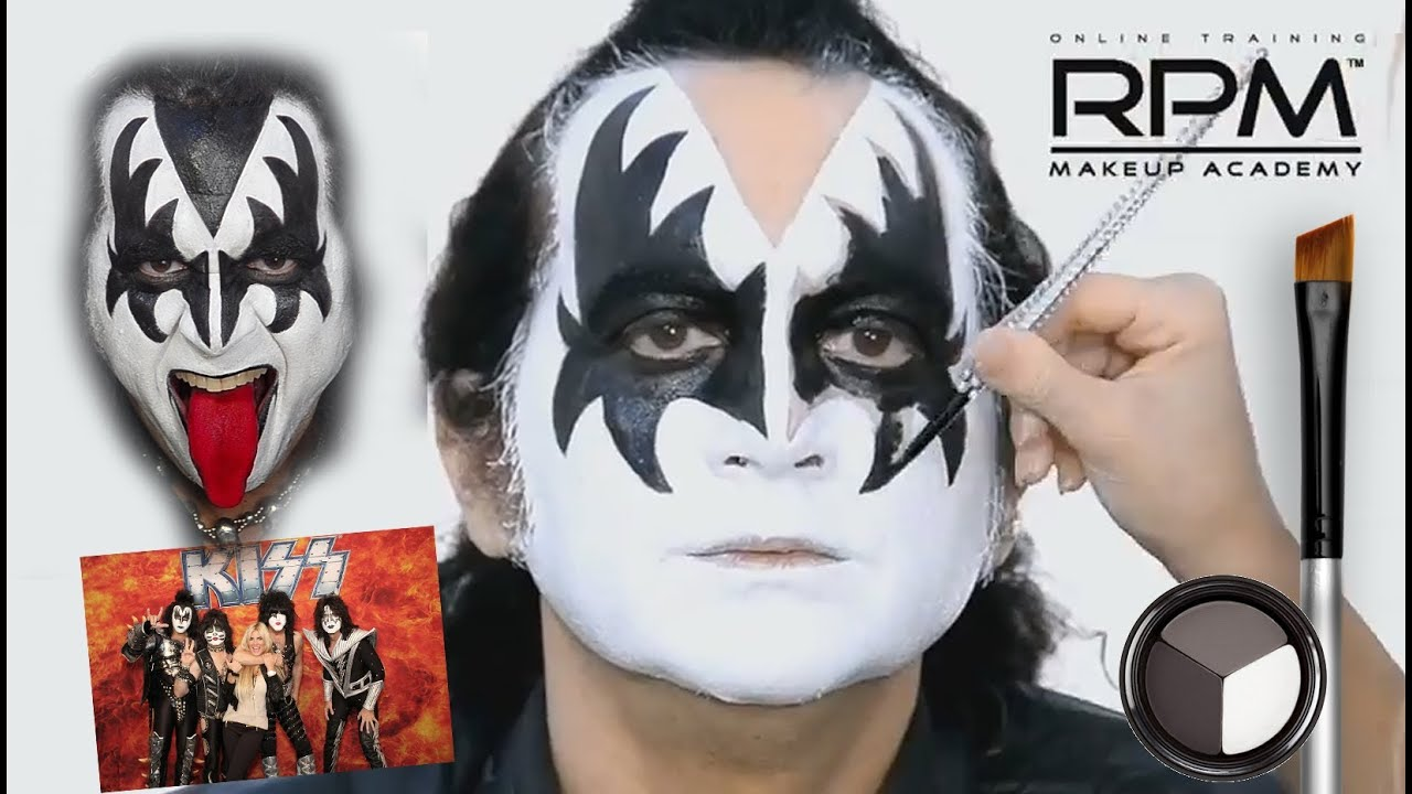 The Official Gene Simmons Makeup Look KISS - YouTube