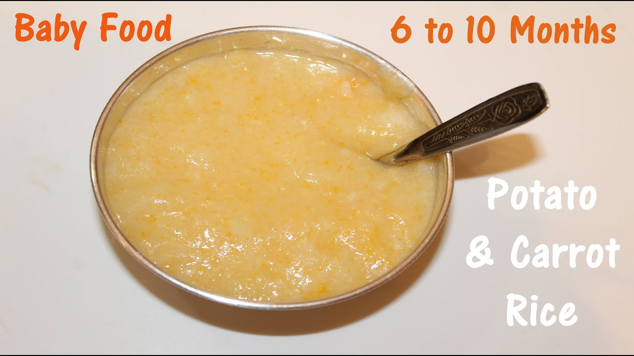 Baby food Recipe Potato and Carrot Rice 6 to 10 Month babies
