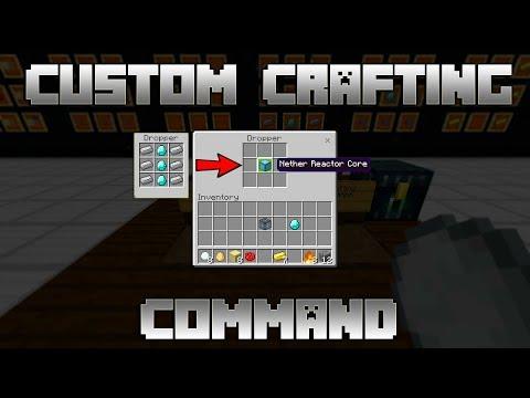 Custom Crafting Command (Bedrock Edition)