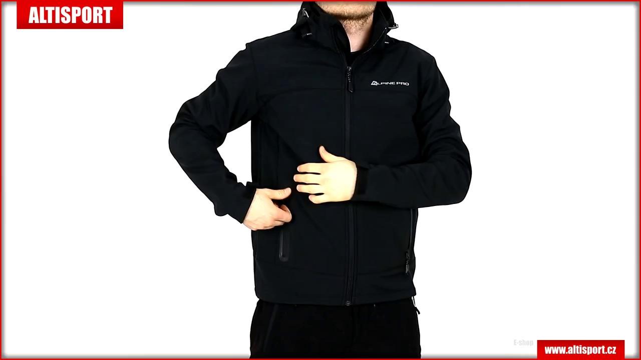 pánská softshellová bunda alpine pro nootk 3 mjcl242 černá - YouTube 2a3d8455f69