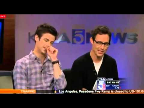 KTLA interviews Grant Gustin and Tom Cavanagh from 'The Flash'