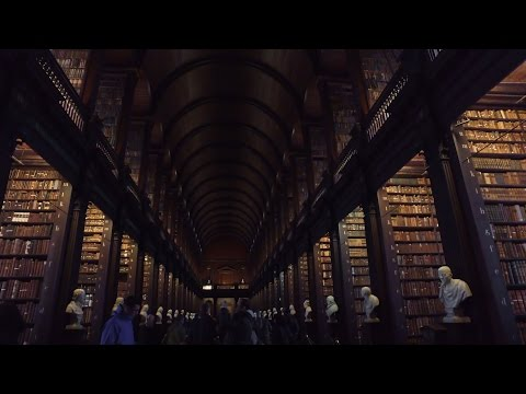 The Long Room - The Library of Trinity College Dublin, Ireland - 4K
