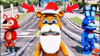 NEW ADVENTURE SANTA FREDDY ANIMATRONIC! (GTA 5 Mods For Kids FNAF RedHatter)