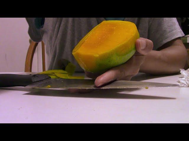 Eating a mango...