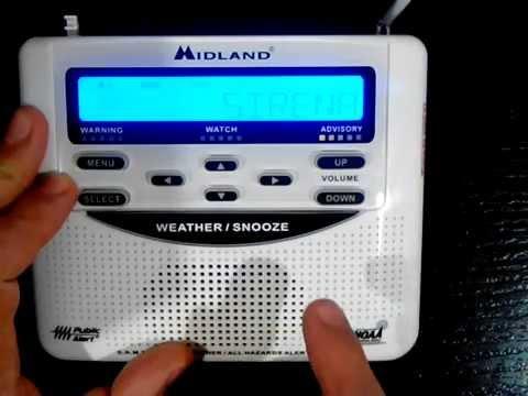 Alerta Sísmica, Programación Radio Meteorológico MIDLAND WR-120