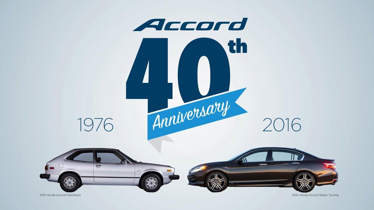 Honda Accord 40 years in America 1976 2016