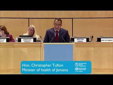 Hon. Christopher Tufton, Minister of Health of Jamaica