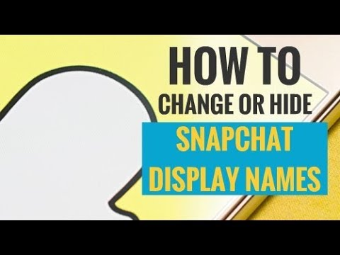 How to Hide or Change Display Name on Snapchat - My Media Social