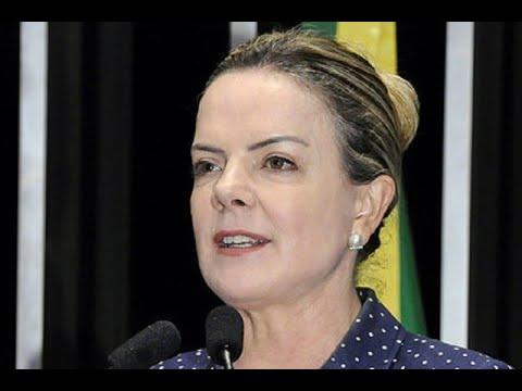 Gleisi Hoffmann volta a afirma que lei garante candidatura de Lula à Presidência