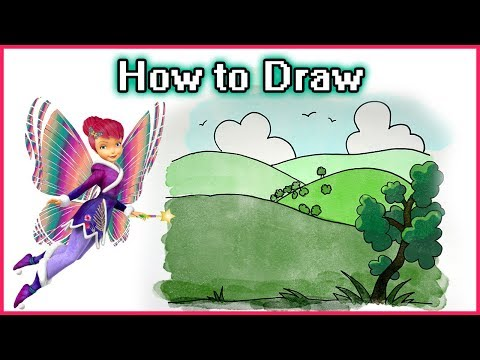 Landscape Drawing Tutorial for Kids | Easy Drawings for Beginners