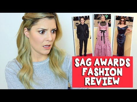 Download Youtube: SAG AWARDS FASHION REVIEW // Grace Helbig