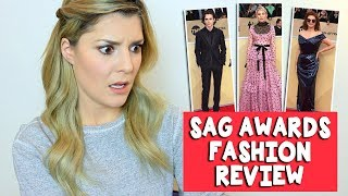 SAG AWARDS FASHION REVIEW // Grace Helbig