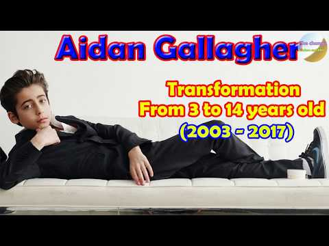 Aidan Gallagher transformation from 3 to 14 years old