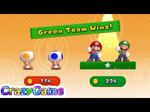 New Super Mario Bros U w/ Wii Coin Battle...
