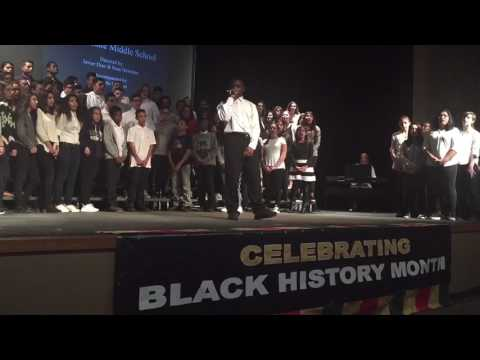 Round Lake Middle School performs at Black History Celebration
