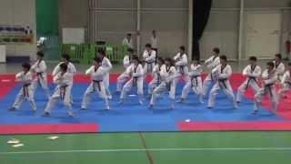 L 'équipe junior de Taekwondo de Corée du Sud en démonstration à Montigny