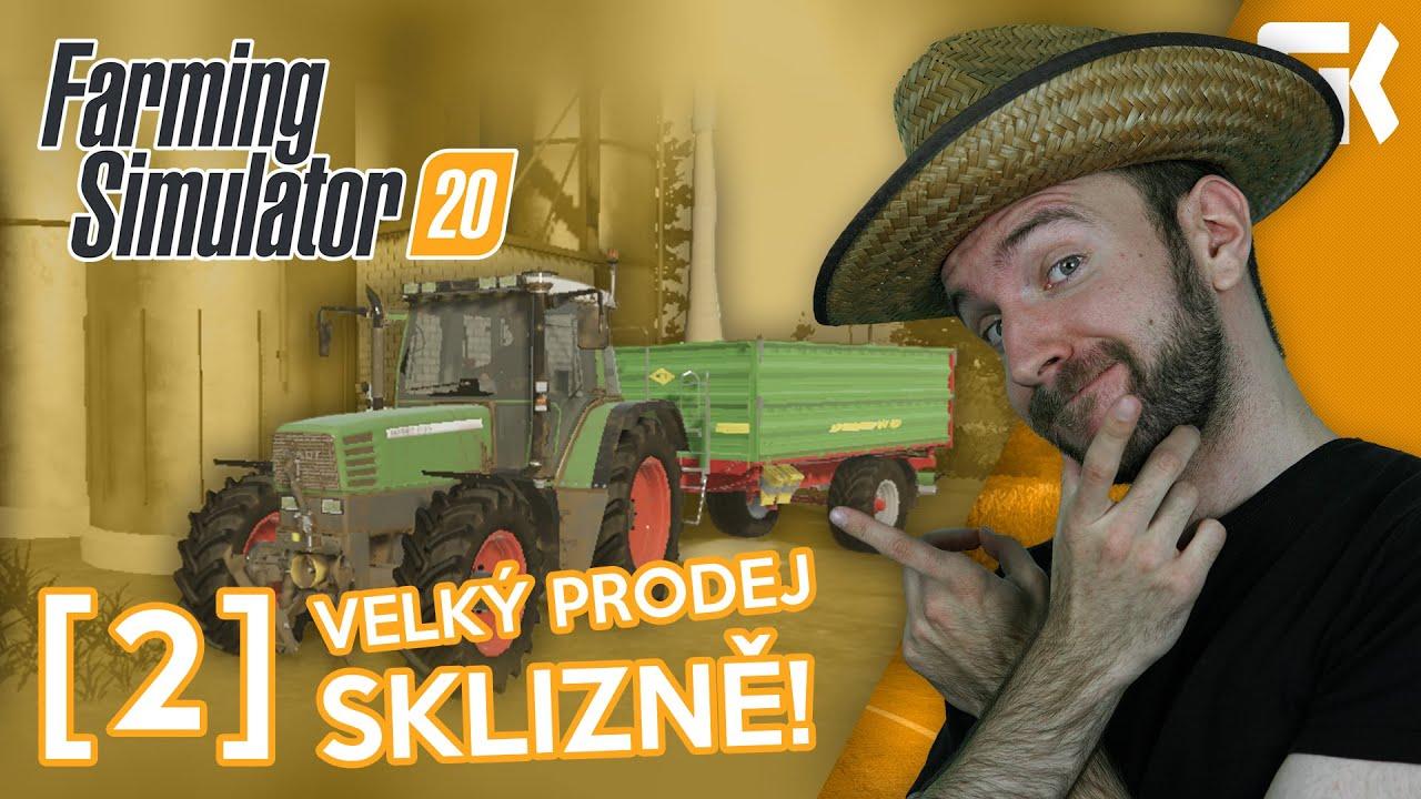 VELKÝ PRODEJ SKLIZNĚ! | Farming Simulator 20 #02
