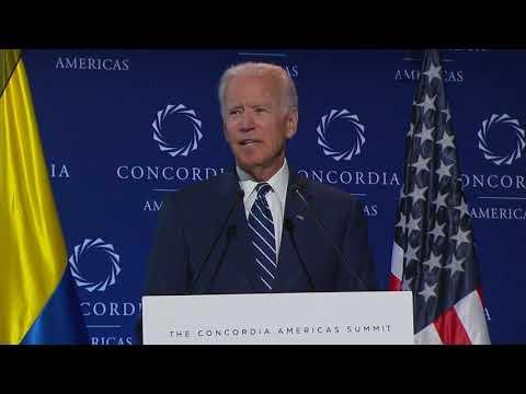 Joe Biden, 47th Vice President of the United States, address the 2018 Concordia Americas Summit.