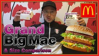 connectYoutube - McDonald's Grand Big Mac UK Review & Size Comparison