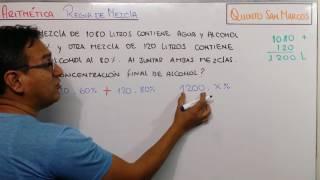 ARITMÉTICA - REGLA DE MEZCLA - TAREA 04 - PROBLEMA 9