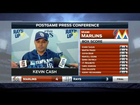 Kevin Cash - Tampa Bay Rays vs. Miami Marlins postgame 5/26/16