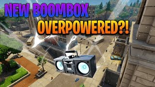 Is The NEW BOOMBOX OVERPOWERED?! Fortnite Battle Royale