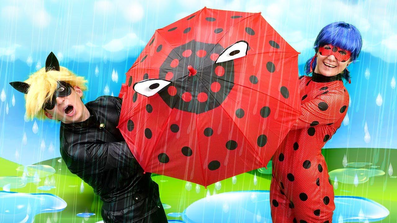 Леди Баг иСупер Кот против Непогоды! —Видео про Ladybug иChat Noir: Избавление Барби отакумы!