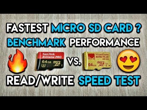 Fastest / Best Micro SD Cards ? (2017) - SanDisk Extreme Pro vs Strontium Nitro Plus - UHS-I(U3)