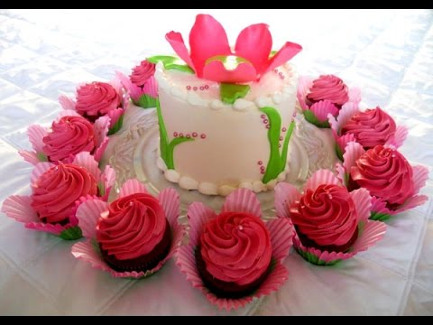 Birthday Flower Cake Youtube