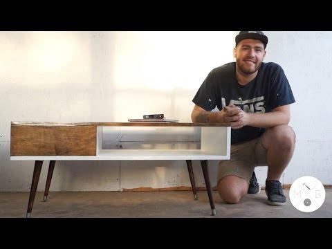 Mid Century Modern Coffee Table DIY   Modern Builds   EP. 10