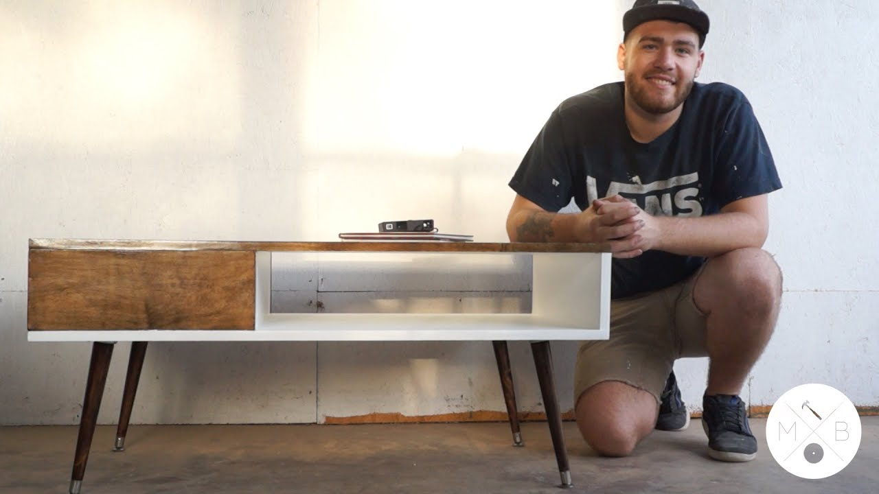 Mid Century Modern Coffee Table DIY Modern Builds EP YouTube - Small mid century modern coffee table